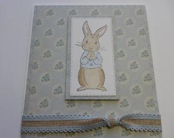 Peter Rabbit Baby Card