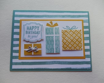 Three Present Birthday Card