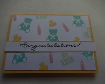 Collage Baby Card