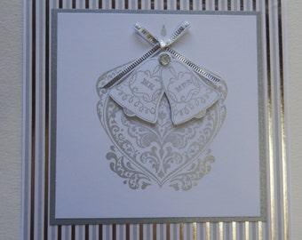 Silver Bells Wedding Card