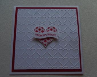 From My Heart Valentine Card