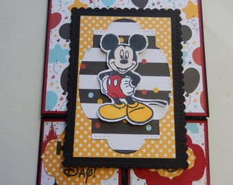 Dutch Door Mickey Mouse Birthday Card