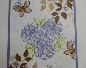 Abstract Purple Flower Card