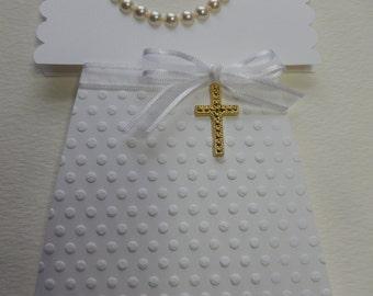 White Chirstening Dress Card