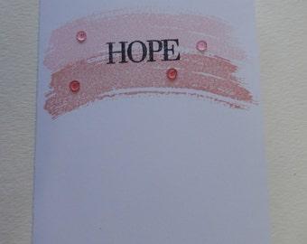Pink Swoosh Hope Breast Cancer Card