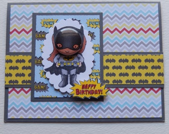 Bat Girl Birthday Card