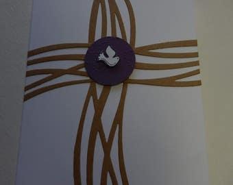 Swirly Cross Confirmation Card