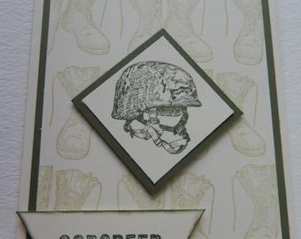 Military Helmet Godspeed Card