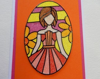 60's Flower Child Retro Card