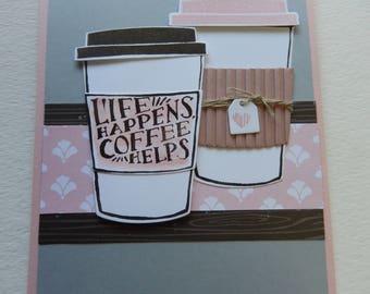 Life Happens Coffee card