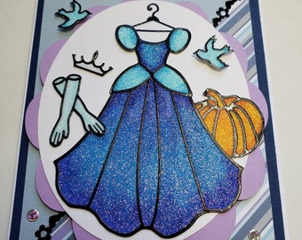 Disney's Cinderella Glitter Card