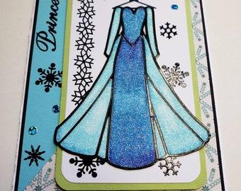 Disney's Princess Elsa Glitter Card