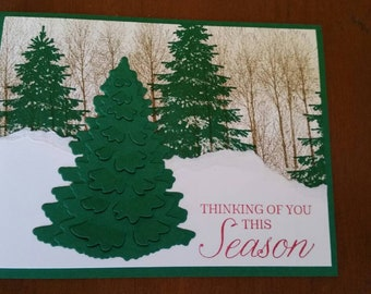 Tree in Woods Christmas Card