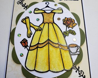 Disney's Belle Glitter Card