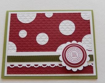 Polka Dot Christmas Card