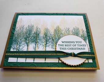 Green and Gold Christmas Card