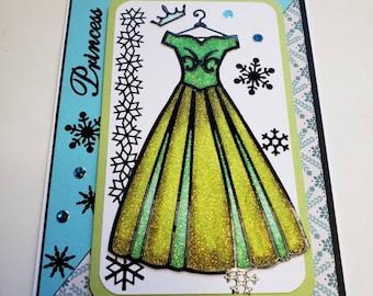 Disney's Princess Anna Glitter Card