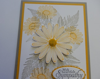 Yellow Daisy Sympathy Card (Also available as a Birthday Card)