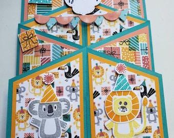 3D Animal Children's Birthday Card