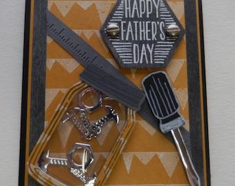 Mason Jar of Screws Father's Day Shaker Card