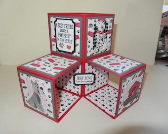 Triple Box Dog Pop-Up Card