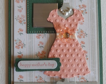 Orange Dress Mother's Day Card