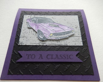 Challenger Muscle Car Father's Day Card