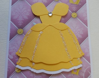 Disney Beauty and the Beast's Belle Birthday Card