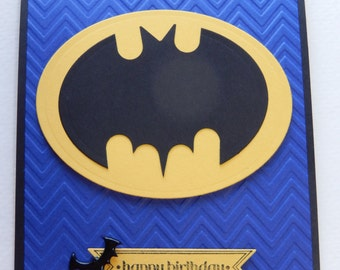 Batman Super Hero Birthday Card