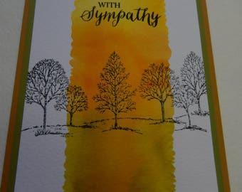 Watercolor Sympathy Card
