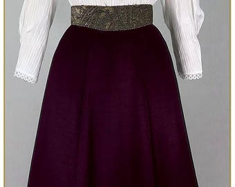 Victorian Dark Violet Taffeta Skirt
