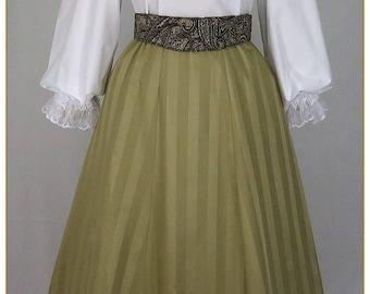 Victorian Tone on Tone Stripe Skirt