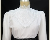 Victorian Blouses, Tops, Shirts, Sweaters Victorian Embroidered Lace Blouse $59.00 AT vintagedancer.com