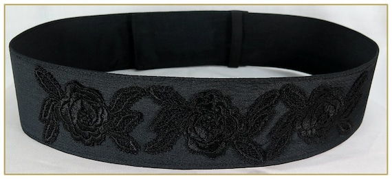 Victorian Skirts | Bustle, Walking, Edwardian Skirts Black Rose Victorian Belt $39.00 AT vintagedancer.com