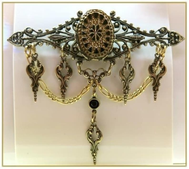 Vintage Style Jewelry, Retro Jewelry Victorian Bead Pin $32.00 AT vintagedancer.com