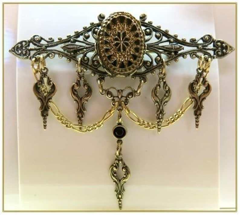 Victorian Costume Jewelry to Wear with Your Dress Victorian Bead Pin $32.00 AT vintagedancer.com