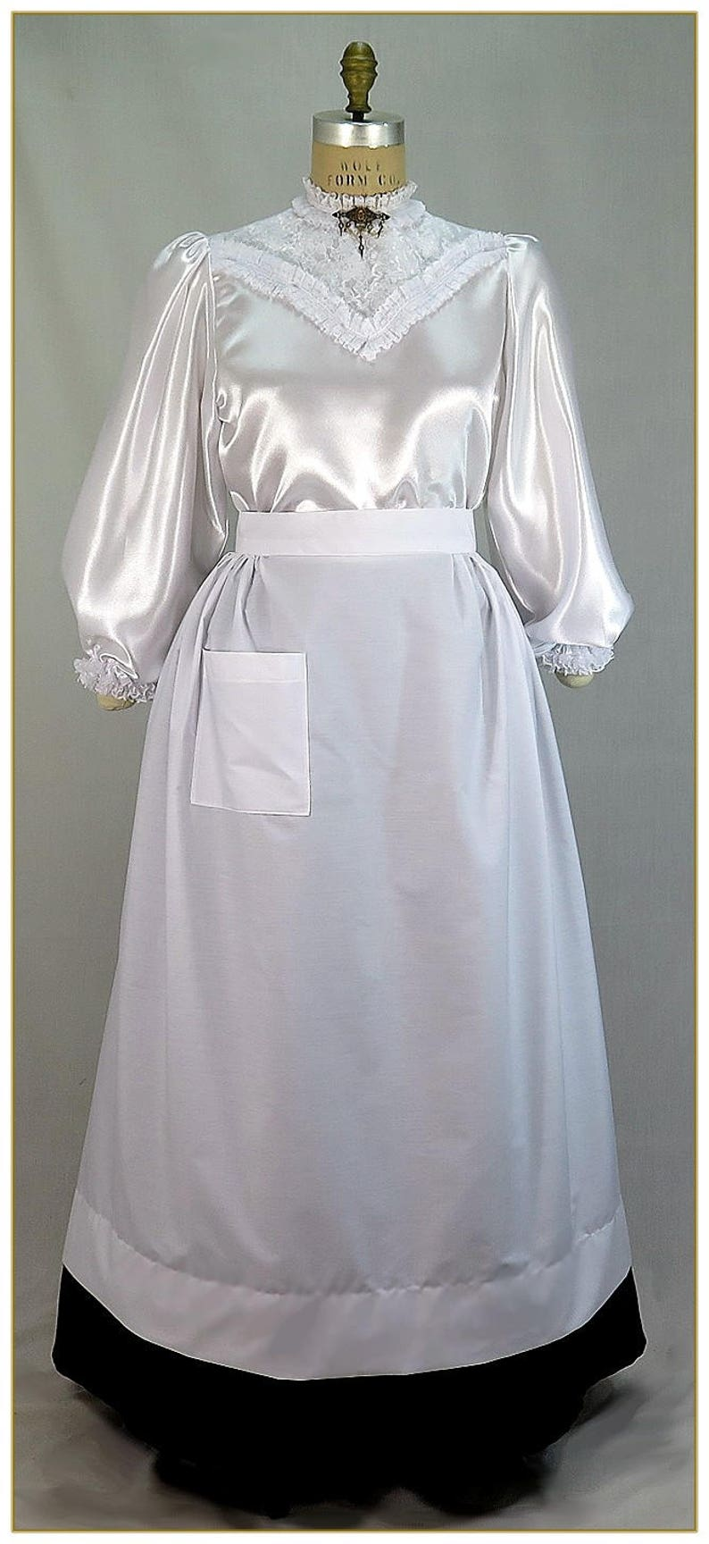 10 Things to Do with Vintage Aprons Victorian Maids Full Length Half Apron $39.00 AT vintagedancer.com