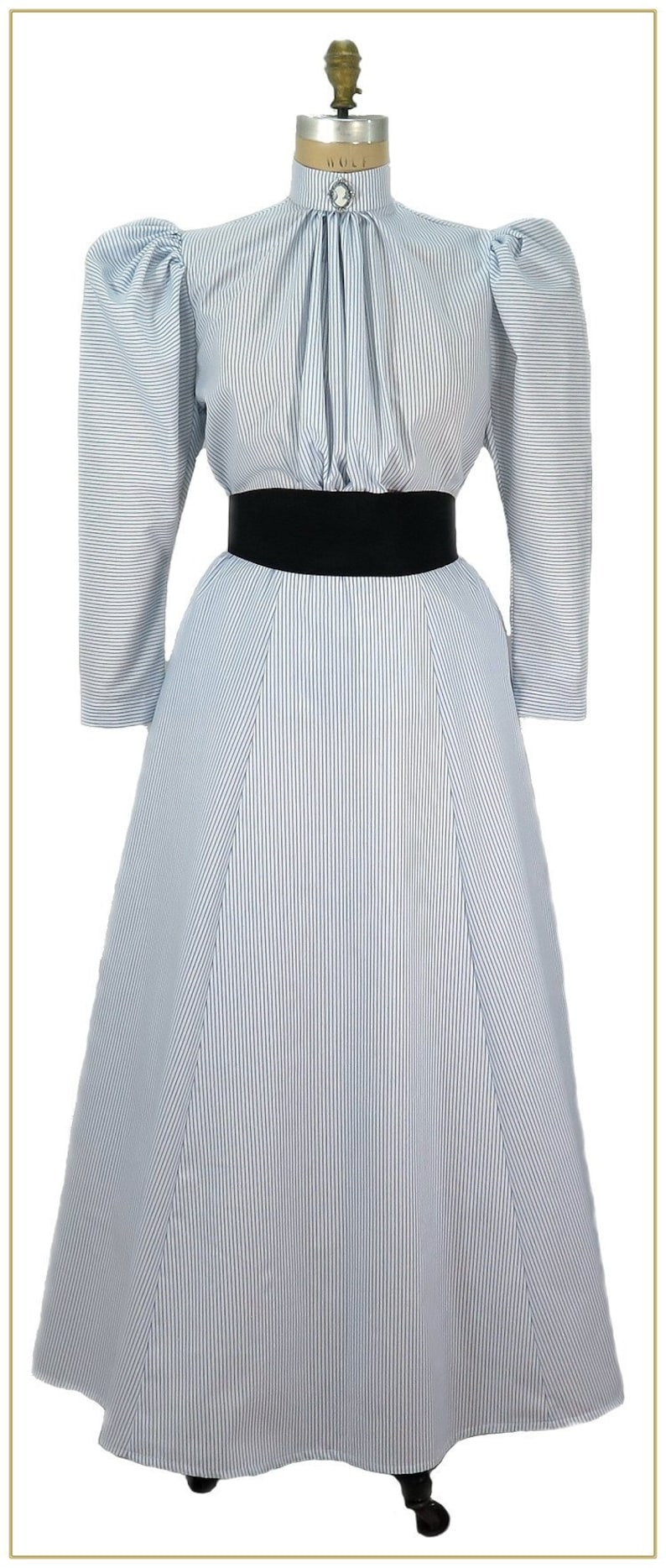 Edwardian Ladies Clothing – 1900, 1910s, Titanic Era 1895-1905 Striped Maid Skirt  $59.00 AT vintagedancer.com