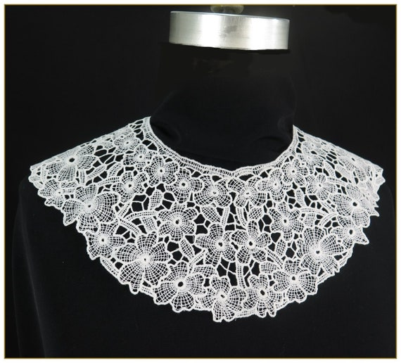 Victorian Blouses, Tops, Shirts, Vests Victorian Lace Collar $19.00 AT vintagedancer.com
