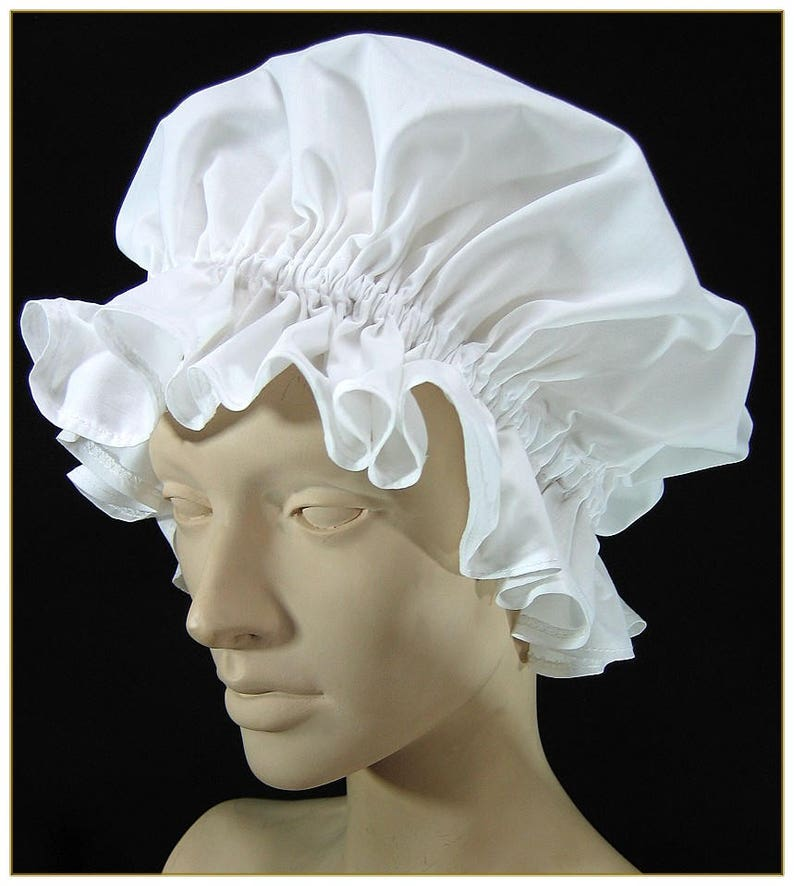 10 Things to Do with Vintage Aprons 1890-1905 Maids Hop Cap $26.00 AT vintagedancer.com