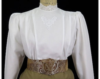 Lace Dobby Victorian Blouse