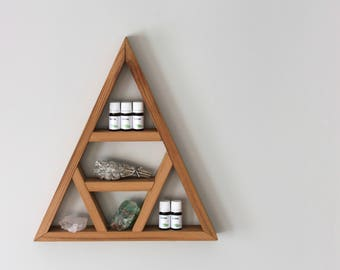 Essential Oil Shelf Kit [Option A] - Smudging Essential Oil Set, Mountain Shelf and White Sage Bundle Set, Smudging Kit, Rustic Shelf Set