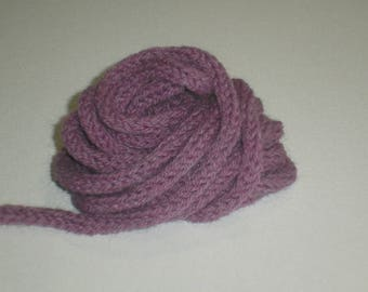 knitted purple to create the meter