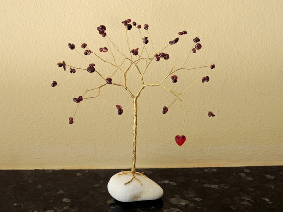 Ruby Wedding Gifts For Her: 40th Anniversary Gift 40th Wedding Anniversary Ruby Tree