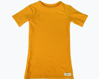 Plain and Simple Kozie Compression Short Sleeve Shirt, New Color Athletic Gold