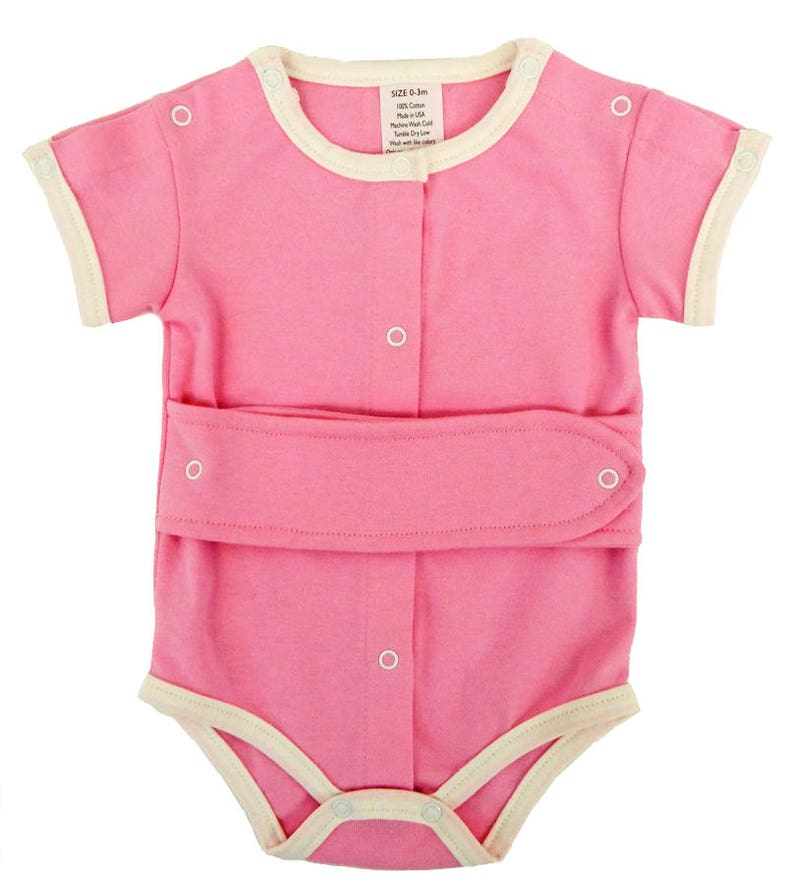 111683b78bccb Kozie Medical and G-Tube One-Piece Bodysuit Girls/Pink & | Etsy