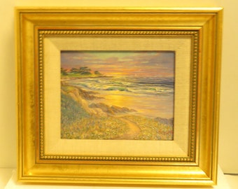 Vintage Original Signed / Dedicated Oil Painting George Bleich  (20th Century)
