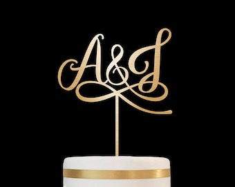 Customized Wedding Cake Topper Initials Personalized Cake Topper for Wedding,Custom Personalized Wedding Cake Topper, Monogram Cake Topper27
