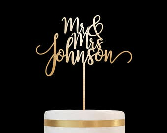 Customized Wedding Cake Topper, Personalized Cake Topper for Wedding, Custom Personalized Wedding Cake Topper, Mr and Mrs Cake Topper 29