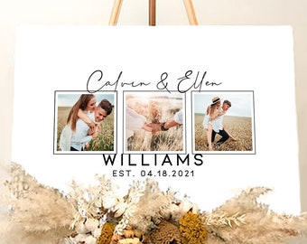 Guest Book For Wedding With Picture - Custom Photo Wedding Guest Book Sign - Rustic Wedding Guest Book Alternative - Guest Book On Canvas